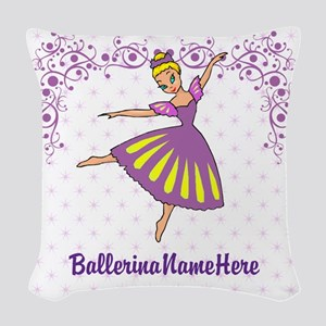 Personalize Your Purple Ballerina! Woven Throw Pil