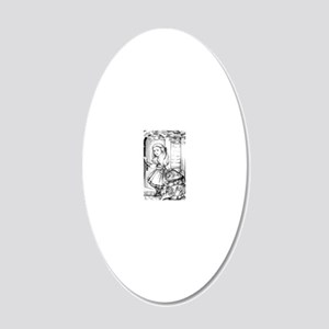 Alice  the Footman 20x12 Oval Wall Decal
