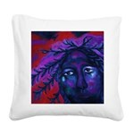 Mother Watching All Square Canvas Pillow