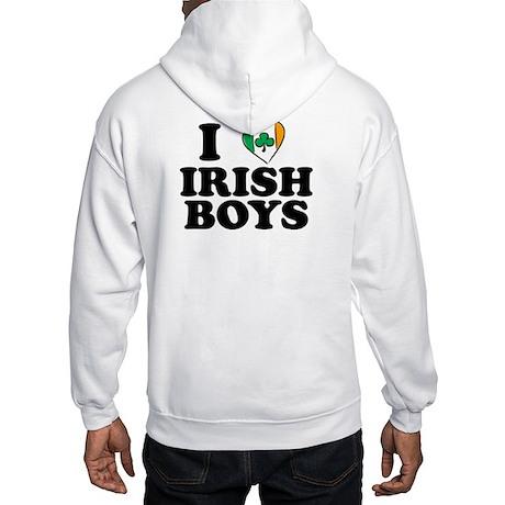 I Love Irish Boys Heart Hooded Sweatshirt