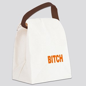 Bitch Fell Off wht Canvas Lunch Bag
