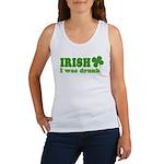 Irish I was Drunk St. Patrick Women's Tank Top