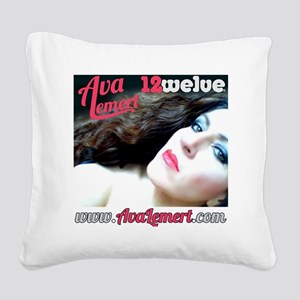 white tshirt cover Square Canvas Pillow