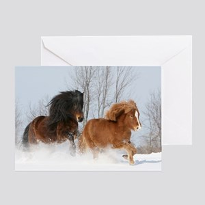 Icelandic Horse Winter Greeting / Holiday Card