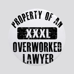 lawyer Round Ornament