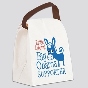 NEW-LittleBigObama Canvas Lunch Bag