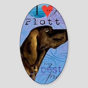 plott-iPad Sticker (Oval)