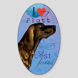 plott-kindle Sticker (Oval)