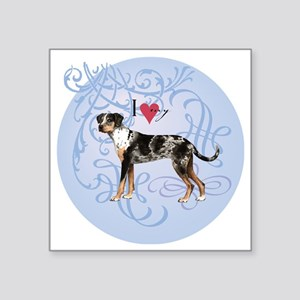 "catahoula-charm2 Square Sticker 3"" x 3"""