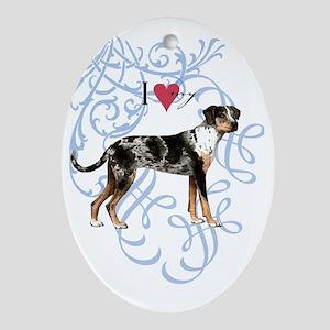 catahoula-oval charm Oval Ornament