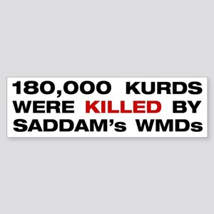 Gassed Kurds Bumper Sticker