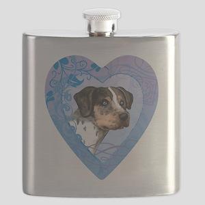 catahoula-heart Flask