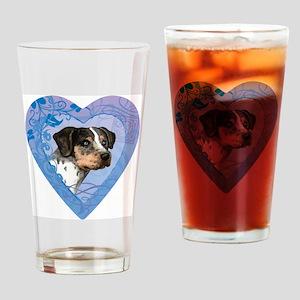 catahoula-heart Drinking Glass