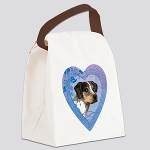 catahoula-heart Canvas Lunch Bag