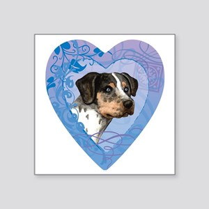 "catahoula-heart Square Sticker 3"" x 3"""