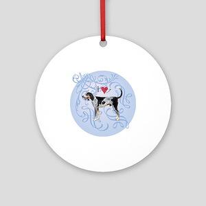 bluetick-charm2 Round Ornament