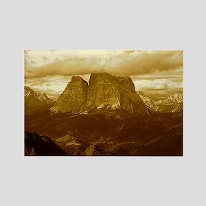 Dolomites sepia Rectangle Magnet