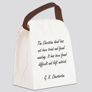 christian ideal Canvas Lunch Bag
