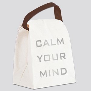 Calm Your Mind Canvas Lunch Bag