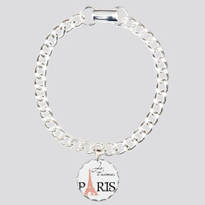 tshirt_pinkblack2_paris Charm Bracelet, One Charm