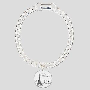 tshirt_paris Charm Bracelet, One Charm