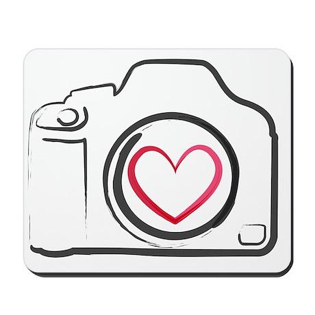 Dslr Camera Heart Mousepad By Admincp39713786