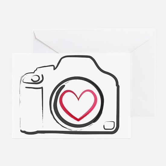 DSLR Camera Heart Greeting Card