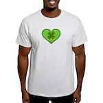 Irish Shamrock Heart St. Part Light T-Shirt