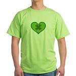 Irish Shamrock Heart St. Part Green T-Shirt