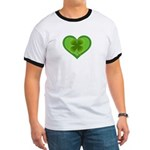 Irish Shamrock Heart St. Part Ringer T