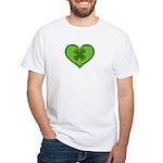 Irish Shamrock Heart St. Part White T-Shirt