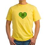 Irish Shamrock Heart St. Part Yellow T-Shirt