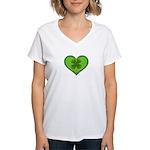 Irish Shamrock Heart St. Part Women's V-Neck T-Shi