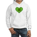 Irish Shamrock Heart St. Part Hooded Sweatshirt