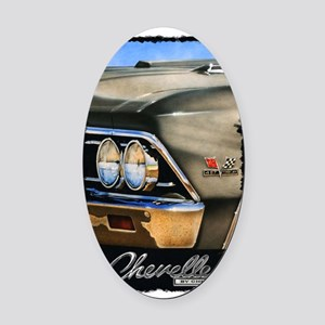 66 chevelle shirt Oval Car Magnet