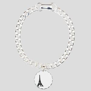 tshirt_blackwhite1_paris Charm Bracelet, One Charm