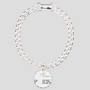 tshirt_blackwhite2_paris Charm Bracelet, One Charm