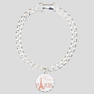 tshirt_pink_paris Charm Bracelet, One Charm