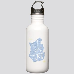 W-BK_ATL-GA_BL-WH_1 Stainless Water Bottle 1.0L