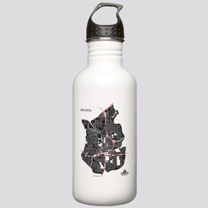 W-WH_ATL-GA_BK-RD_1 Stainless Water Bottle 1.0L