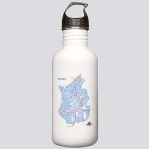 W-WH_ATL-GA_BL-RD_1 Stainless Water Bottle 1.0L