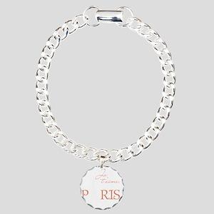 tshirt_pinkwhite1_paris Charm Bracelet, One Charm