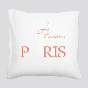 tshirt_pinkwhite1_paris Square Canvas Pillow