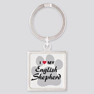 english-shepherd Square Keychain