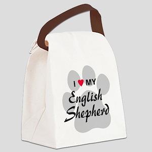 english-shepherd Canvas Lunch Bag
