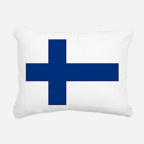 2000px-Flag_of_Finland Rectangular Canvas Pillow