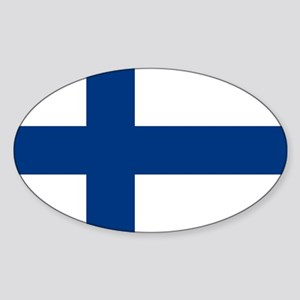 2000px-Flag_of_Finland Sticker (Oval)