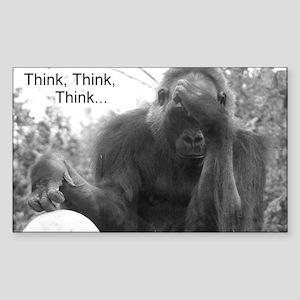Think Think Think! Rectangle Sticker