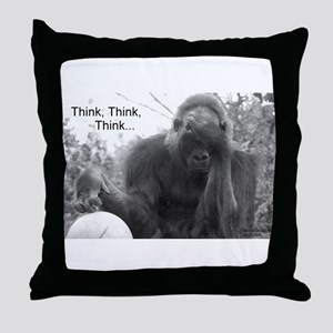 Think Think Think! Throw Pillow