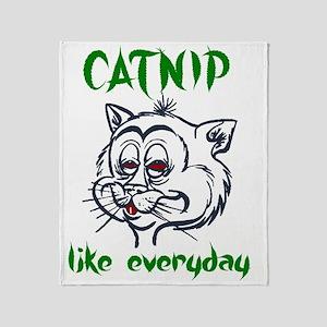 catnipDARK Throw Blanket